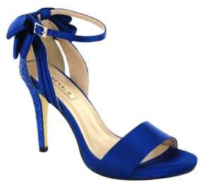 Menbur Clarin Back Bow Satin Ankle Strap Sandals