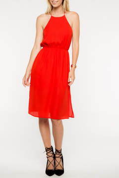 Everly Red Midi Dress