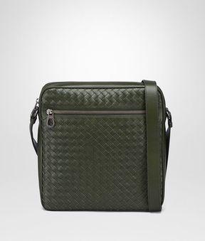 Bottega Veneta Moss Intrecciato Messenger Bag