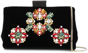 Roger Vivier Jewels Embroidered Soft Clutch