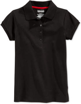 Nautica School Uniform Picot-Trim Polo, Little Girls (4-6X)