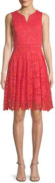 Donna Ricco Women's Lace Fit-and-Flare Dress