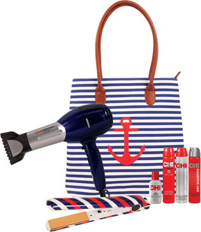 Chi Sail Away Dryer and Flat Iron Set with Free Tote