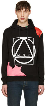 McQ Black Abstract Icon Clean Hoodie