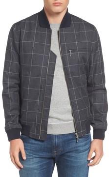 Lacoste Men's Check Flannel Bomber Jacket