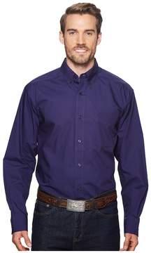 Ariat Solid Poplin Shirt Men's Clothing
