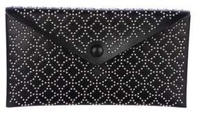 Alaia Embellished Leather Envelope Clutch