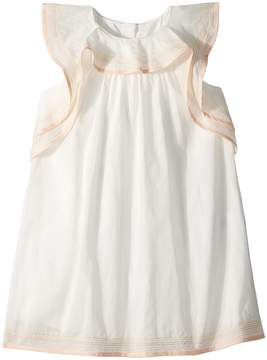 Chloé Kids Essential Stitching and Ruffle Dress Girl's Dress