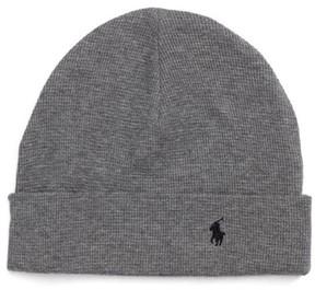 Polo Ralph Lauren Thermal Cuff Cotton Cap - Grey