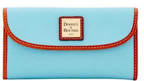 Dooney & Bourke Pebble Grain Continental Clutch Wallet - CARIBBEAN BLUE - STYLE