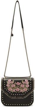 Stella McCartney Black Floral Falabella Box Bag