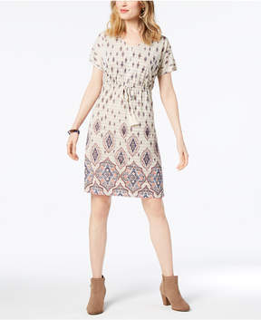 Style&Co. Style & Co Printed Dolman-Sleeve Dress, Created for Macy's