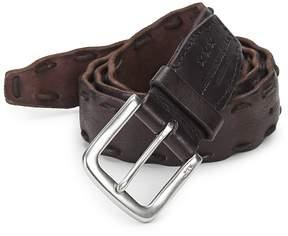 John Varvatos Men's Pick-Stitch Leather Belt