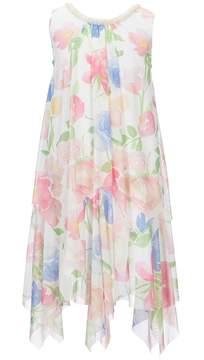 Us Angels Blush by Big Girls 7-16 Floral-Print Chiffon Dress