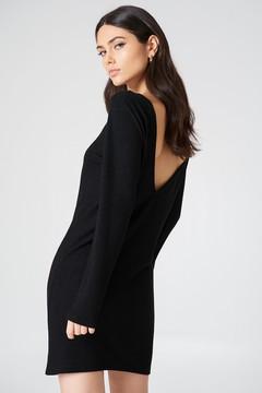 NA-KD Na Kd Deep Back Long Sleeve Dress