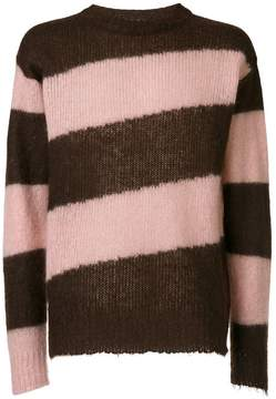 Marni diagonal striped sweater