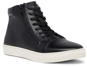 Kenneth Cole Reaction Embossed High Top Leather Sneaker