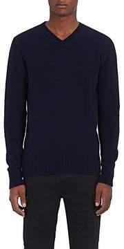 Officine Generale Men's Cashmere-Merino Wool V-Neck Sweater