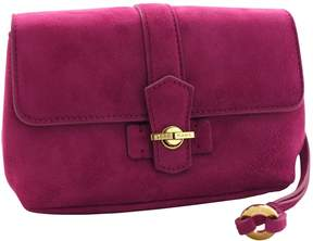 Loro Piana Pink Suede Clutch Bag