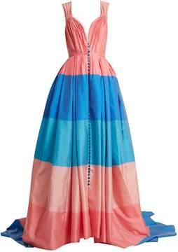 Carolina Herrera Pleated striped gown
