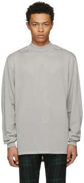 Fear Of God Grey Long Sleeve Mesh T-Shirt