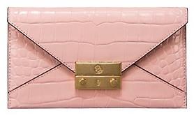 Tory Burch Juliette Embossed Envelope Wallet - CLAY PINK - STYLE