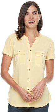 Croft & Barrow Women's Knit Button-Front Shirt