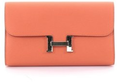 Hermes Pre-owned: Constance Wallet Epsom Long. - ORANGE - STYLE