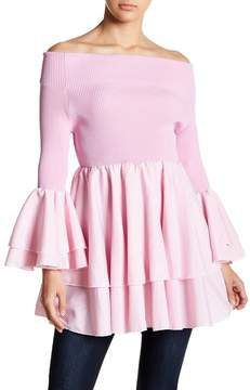 Gracia Tiered Ruffle Off-the-Shoulder Top