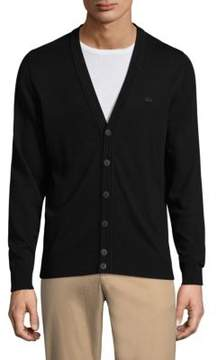 Lacoste Buttoned Wool Cardigan