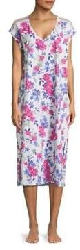 Karen Neuburger Floral Print Nightgown