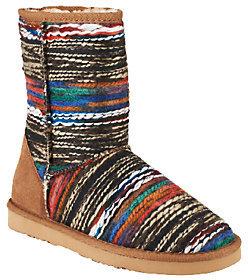 Lamo Fabric w/ Suede Counter Ankle Boots w/ Faux Fur - Juarez