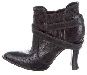 Elizabeth and James Leather Pointed-Toe Booties