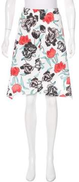 C/Meo Collective Floral Print Asymmetrical Skirt