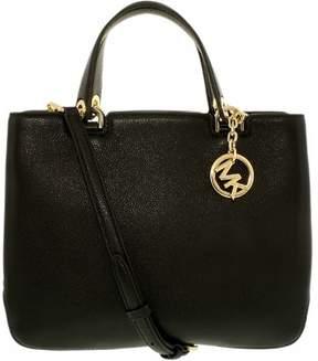 Michael Kors Anabelle Medium Top-Zip Leather Tote Bag - Black - 30S6GAPT2L-001 - BLACK - STYLE
