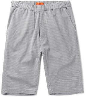 Barena Slim-Fit Puppytooth Stretch-Cotton Twill Drawstring Shorts