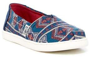 Toms Alpargata Geo Print Slip-On Flat (Little Kid & Big Kid)