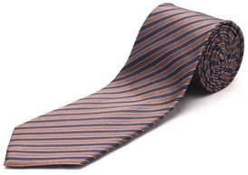Luciano Barbera Men's Slim Silk Neck Tie Brown Blue.