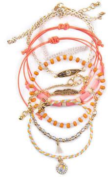 Arizona Womens 7-pc. Clear Bracelet Set