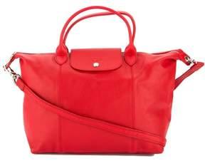 Longchamp Cherry Metis Leather Le Pliage Cuir M Top Handle Bag - ONE COLOR - STYLE