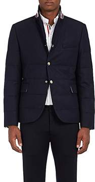 Moncler Gamme Bleu Men's Down-Quilted Wool Three-Snap Sportcoat