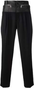Juun.J mixed material trousers