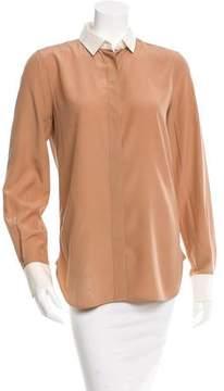Celine Colorblock Button-Up Top