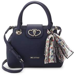 Love Moschino Women's Scarf Faux Leather Top Handle Bag