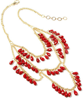 Amrita Singh Ruby & Goldtone Spring Street Bib Necklace