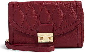 Vera Bradley Claret Ultimate Leather Wristlet - CLARET - STYLE