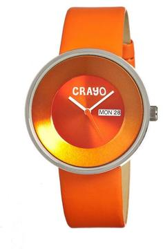 Crayo Button Collection CR0205 Unisex Watch