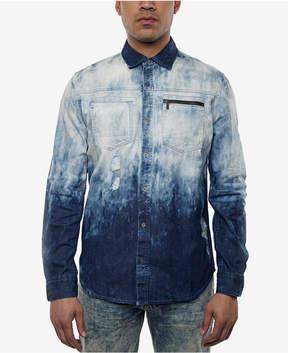 Sean John Men's Dip-Dyed Destroyed Denim Shirt, Created for Macy's