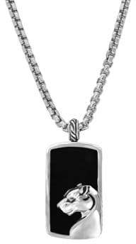 Effy Gento Black Onyx and Sterling Silver Pendant Necklace