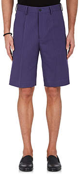 Caruso Men's Cotton-Linen Herringbone Shorts